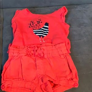 Baby Gap 0-3 Month Onesie and Shorts